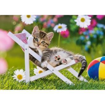 puzzle 500 pi ces chaton dans son transat castorland 500 750 pi ces achat prix fnac. Black Bedroom Furniture Sets. Home Design Ideas
