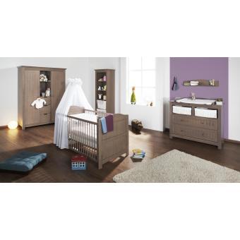 Pinolino   Chambre Bébé Jelka Chocolat En Massif Avec Grande Armoire   Chambres  Enfant Complètes   Achat U0026 Prix | Fnac