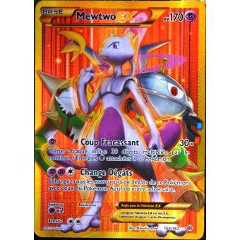 prix carte pokemon rare carte Pokémon 164/162 Mewtwo EX 170 PV   SECRET RARE   FULL ART