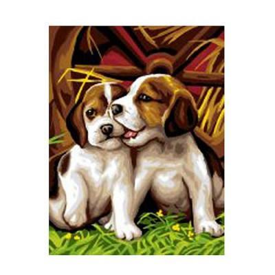 Oz International - Peinture au numéro - Débutants : Les deux chiots