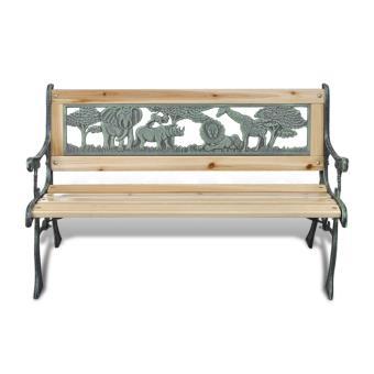 vidaXL Banc de Jardin pour enfant en Fonte Design Animaux 80 x 24 cm ...