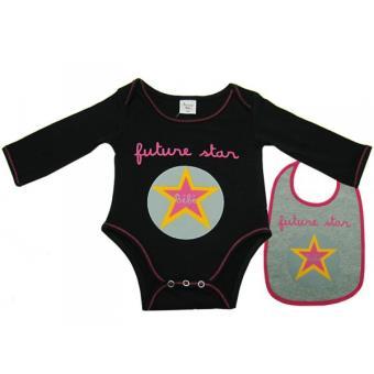 Body bavoir bébé Futur star noir 3 mois Taille - 3 mois - Autres cadeaux  naissance - Achat   prix  8f5c0947d9d
