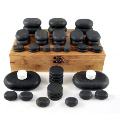 Pierres chaudes 50 pierres de massage en basalte