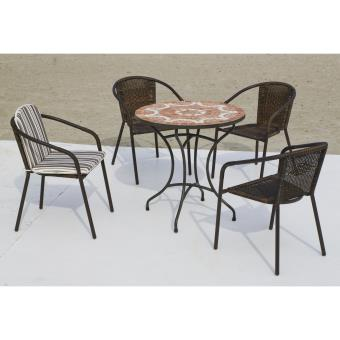 Aciermosaique Set 754 Et Eyrebrasil Table Chaises Ensemble culFKT13J