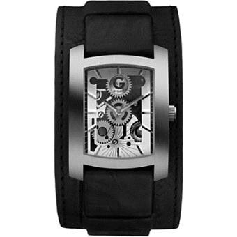 montre guess homme g89017g1 bracelet cuir noir montre homme achat prix fnac. Black Bedroom Furniture Sets. Home Design Ideas