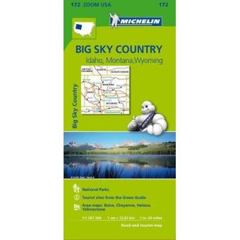 Mapa Michelin Zoom 172 - USA Big Sky Country: Idaho, Montana, Wyoming
