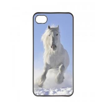 Coque iphone 5C Cheval Blanc dans la Neige