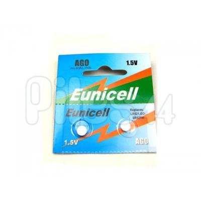 Blister de 2 Piles Bouton AG0 Alcaline 15V Eunicell