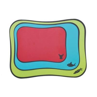 Moha moderne haushaltwaren ag 41510 43 x 33/37 x 27/28 x 20 cm-flex souple et couleurs lot de 3 planches à découper vert/bleu/rouge