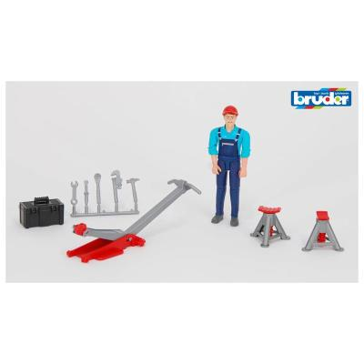 Bruder 62100 Set de figurine - Ouvrier avec accessoires