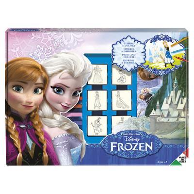 Disney - La Reine des Neiges - Set Créatif - Tampons, Feutres, Carnet à Dessin, Règle