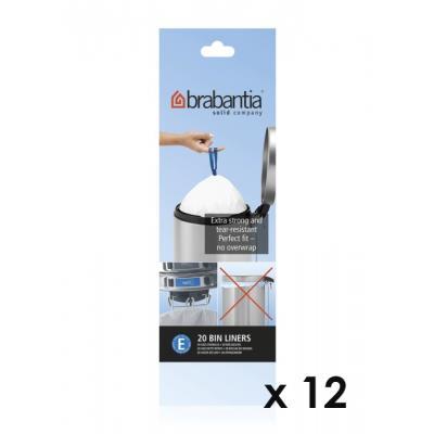 Brabantia - Lot De 11 Rouleaux De 20 Sacs Poubelle E 20 Litres + 1 Offert 245329