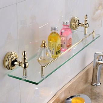 Etagère contemporaine en verre et inox pour salles de bain ...