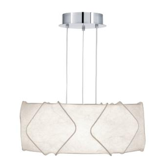 Eglo 91907 Lampe Suspension Atzara En Acier Avec Abat Jour Cocoon Pour 3 Ampoules E27 Max 60 W O 59 Cm X 130 Cm Chrome Mat 10 Nouveau Suspension 3 Lampes Hht5