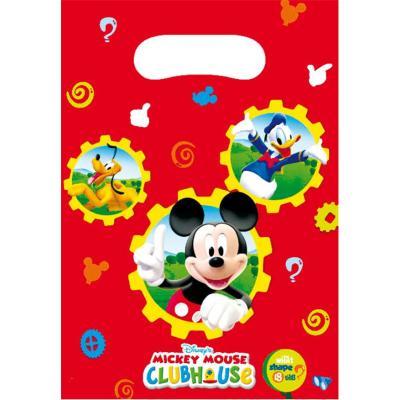 6 Sacs à cadeaux Mickey - anniversaire