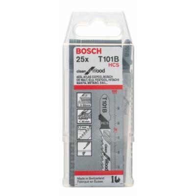 Bosch - Lame De Scie Sauteuse Speciale Bois Et Derive Hcs - Réf..T101B - Long. Dentée Mm.75 - Pas.2,5 - Nb De Lames / Etui.25 -