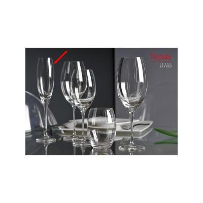 2 flûtes à Champagne Madeleine Cristal de Sèvres