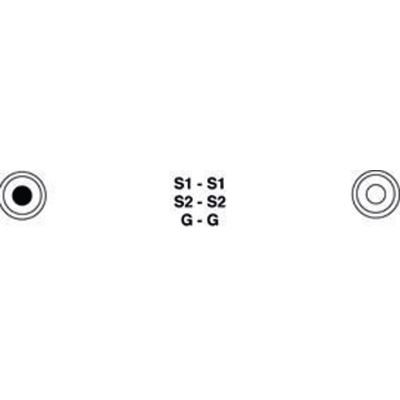 Câble audio stéréo 2x RCA mâles vers 2x RCA mâles 1,50 m noir