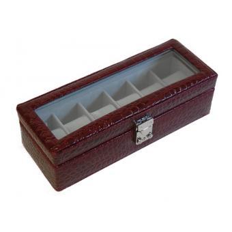 design exquis style populaire se connecter Egodesign - Coffret boite 6 montres facon croco bordeaux ...