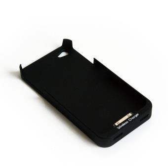 Coque de protection et de chargement iPhone 4 4S pour chargeur sans fil technologie QI Couleur NOIRE