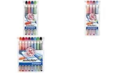 SCHNEIDER - Stylo à bille slider XB colours, en étui de 4