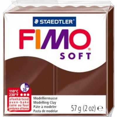 Staedtler pâte a modeler fimo soft 56g marron chocolat