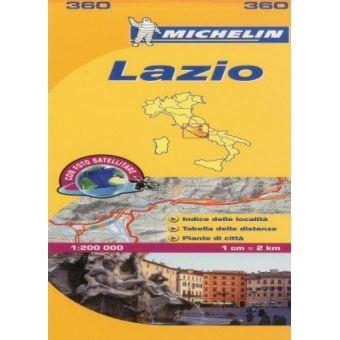 Mapa Michelin Local 360 - Itália: Lazio