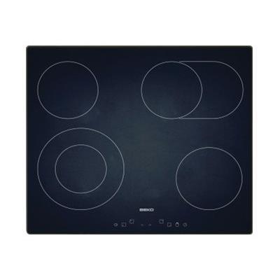 Beko HIC 64403 - Vitrocéramique - 4 plaques de cuisson - Niche - largeur : 56 cm - profondeur : 49 cm - sans cadre - noir
