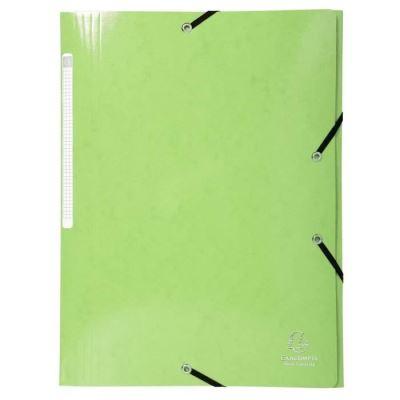Chemise à 3 rabats et à élastiques A4 Iderama, 300 feuilles, 240 x 320 mm, carte avec polypropylène, Citron vert