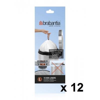 Brabantia - Lot De 11 Rouleaux De 10 Sacs Poubelle L 45 Litres + 1 Offert 371547