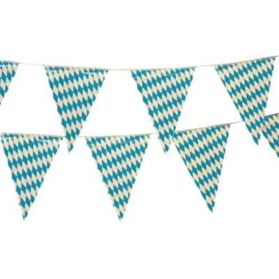 Banderole - fanions - 4m - motifs oktoberfest bleu de bavière décorations parti 18747