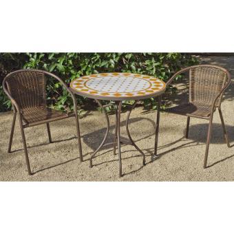 Ensemble Table et chaises Set salamanca/brasil - 75/4 Acier ...