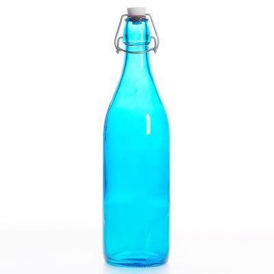 Bormioli - Bouteille Limonade Giara 1L Bleu