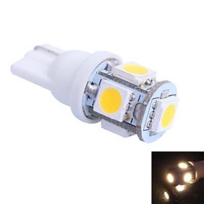 Lampe à Led à Support T10, Couleur lumière Blanc chaud, Puissance 1W, 5 LED SMD 5050, Lumes 100lm