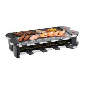 Domoclip DOC160 - raclette/grill/hete steen - zwart