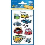 Avery Zweckform Kids Stickers Lumineux Coeurs Multicolore 17 Pièces
