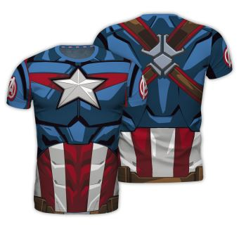 T-Shirt Marvel Captain America - Tamanho M