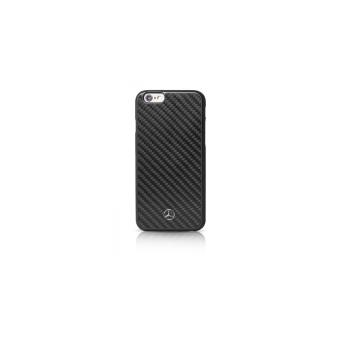 MERCEDES Coque de protection pour telephone portable fibre de carbone noir pour Apple iPhone 6 6s