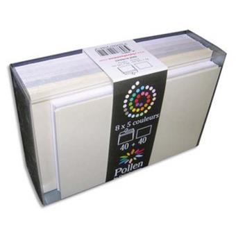 Paquet De 40 Enveloppes 9x14cm Cartes Visite 8x13cm Pollen Mariage Assortis Blanc Enveloppe Top Prix