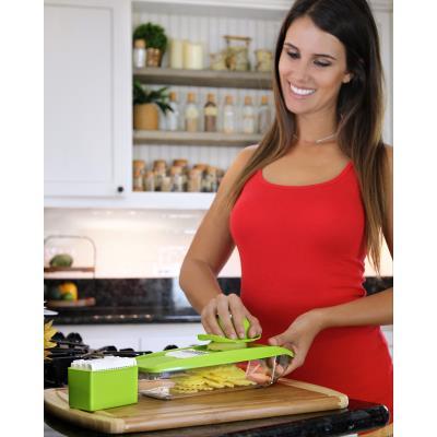 Mandoline de Cuisine Professionnelle Multifonction Les Legumes Fruit Citron Vert Utilisation Rapide et Facile /à Nettoyer AIN 5 en 1 Multifonction Professionnelle Couper