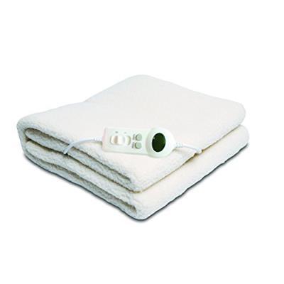 Sweet night 9469 sur-matelas chauffant aspect laine 1 personne ecru 150 x 80 cm