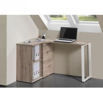 livio bureau angle 1 porte coulissante 130cm chene achat prix fnac. Black Bedroom Furniture Sets. Home Design Ideas
