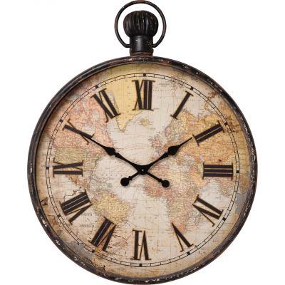 Horloge murale marron Alicia