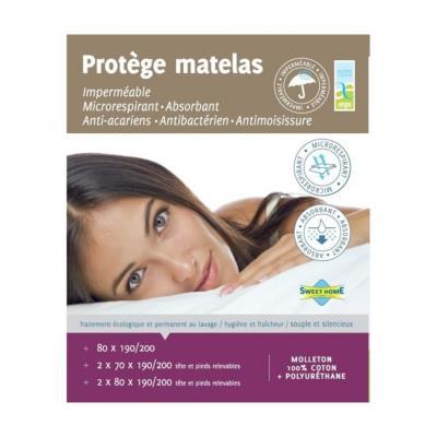 SWEET HOME Protege matelas SARA AEGIS 80x190/200
