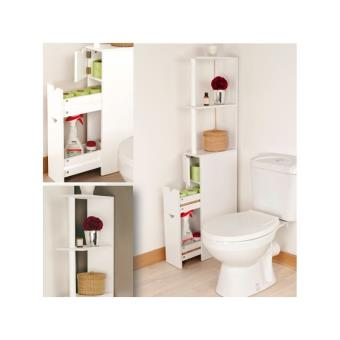 34 sur meuble wc tag re bois gain de place pour toilettes 3 portes installations salles de. Black Bedroom Furniture Sets. Home Design Ideas