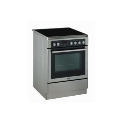 Whirlpool CORE+ AXMT6534IX - Cuisinière - pose libre - largeur : 60 cm - profondeur : 66 cm - hauteur : 84 cm - avec système auto-nettoyant - classe A - acier inoxydable