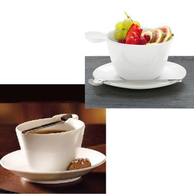 Déjeuner blanc et sa cuillère Multicup&Spoon