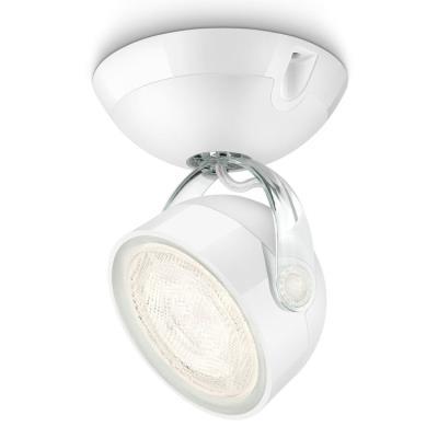 Philips 532303116 dyna spot led orientable luminaire d'intérieur blanc matières synthétiques