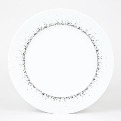 Borealis - Assiette plate porcelaine decorée pois moucheté