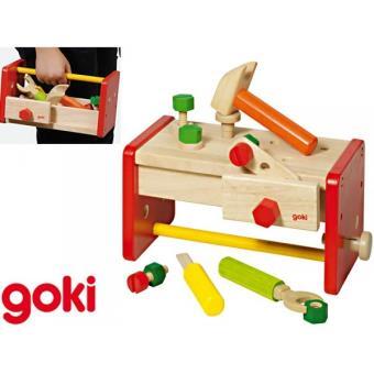 etabli de menuisier et bo te outils 2 en 1 jeu enfant. Black Bedroom Furniture Sets. Home Design Ideas